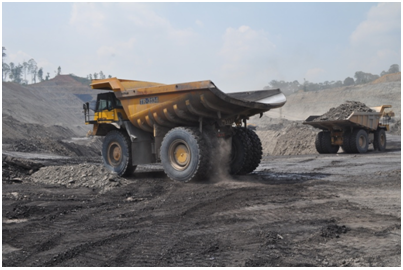 Gambar Kegiatan operasi produksi Batu Bara di Ste Sambarata, PT. Berau Coal